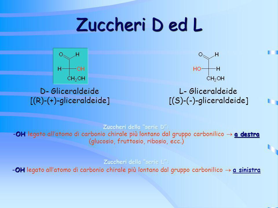 Zuccheri D ed L D- Gliceraldeide [(R)-(+)-gliceraldeide]